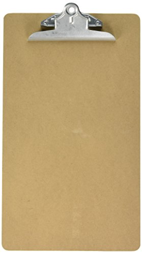 Charles Leonard Legal Size Masonite Clipboard, Two Sided Smooth, Brown, 9 x 15.5 Inches, 1 Each (89004)