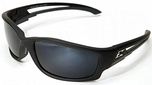 Edge Eyewear Kazbek Polarized-Black / G-15 Silver Mirror Lens with Gasket (Mirror Lens G15 Silver)