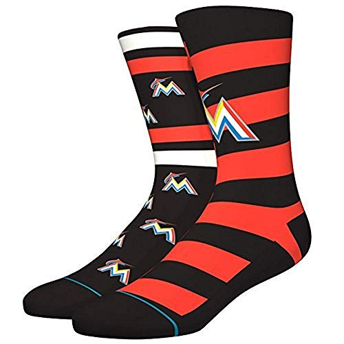 Stance Men's Marlins Splatter Socks Orange ()