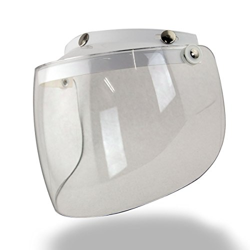 Outlaw Universal 3 Snap-Button Visor with Flip-up Clear Shield - One Size by Outlaw