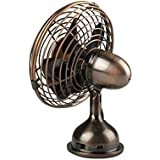 Shihua Compact USB Powered Desk Mini Fan Bronze Copper Desktop Fan