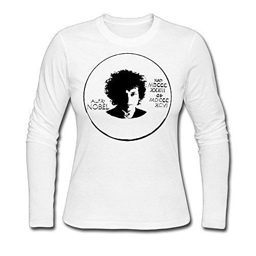 T Shirt 100 Cotton Bob Dylan Nobel Prize Woman 100% Cotton T-shirt