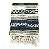 Mexican Blanket Serape colors black, grey & white