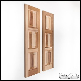 15in. Wide x 50in. High - Cedar Three Panel Exterior Shutters (pair) by Windowbox