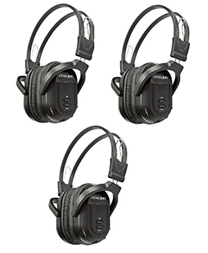 3 Pack of Two Channel Folding Universal Rear Entertainment System Infrared Headphones Wireless IR DVD Player Head Phones for in Car TV Video Audio (Infrared Audio)