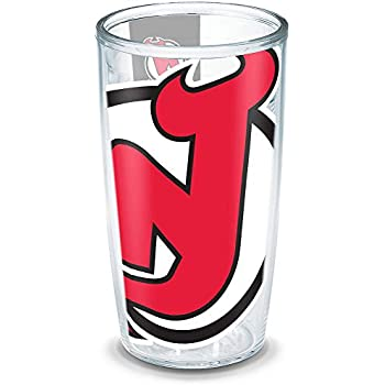 Wrap Clear 24 oz Tervis 1105342NHL Nj Devils Colossal Tumbler with Red Lid