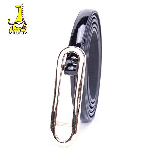 MILUOTA] Fashionable Women's Belt Girl's Dress PU Leather Belt Buckle Strap Designer's Drawstring Casual Belts for Women MU229