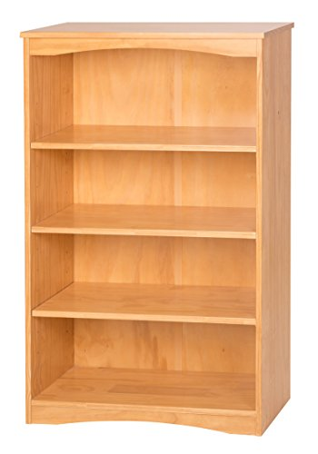 Camaflexi Essentials Wooden Bookcase, 48 H x 30 W x 12 D, Natural