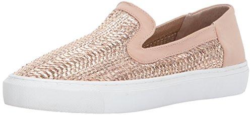 STEVEN by Steve Madden Women's Kenner Sneaker, Rose Gold, 9 Medium - Steve Gold Madden
