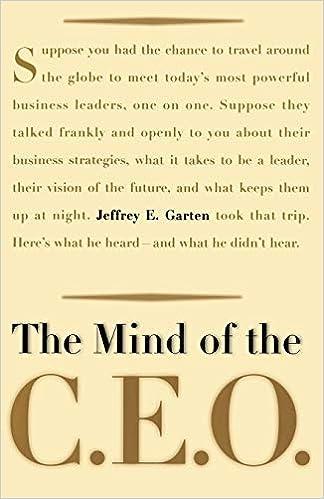 The Mind Of The Ceo Jeffrey E Garten 9780465026166 Amazoncom Books