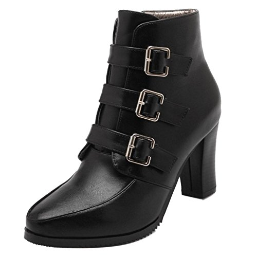 Black COOLCEPT Boots Fashion Women Zipper HwHqIYRx