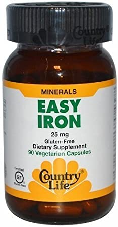 COUNTRY LIFE VITAMINS EASY IRON 25 MG, 90 VCAP