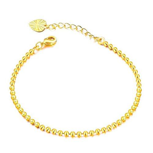 DX.OPK 18K Yellow Gold Bracelets for Women,Gold Adjustable Bracelet, 17.5+4cm/6.89+1.57in Chain Bracelet Perfect Birthday Christmas