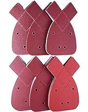 48-delig Mouse schuurpapier schuurbladen klittenband schuurdriehoek, 140 mm 4 gaten, 8 x korrel 40/60/80/120/180/240 voor Black en Decker Detail Palm Sander