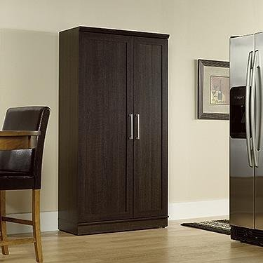 Double Door Utility Cabinet - Sauder Double Door Storage Cabinet, Large, Dakota Oak