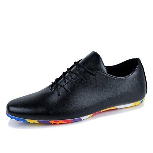 Tendencias de verano casual zapato de zapatos/Joker transpirable zapatos de hombre Negro