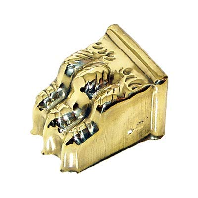 Medium Stamped Brass Furniture Leg Claw Foot Toe Cap | Clawfoot to Protect Feets of Table, Dresser, Sofa or Other Modern & Antique Furniture + Free Bonus (Skeleton Key Badge) ()