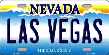 Las Vegas Nevada sfondo novit/à metallo targa lp-9545