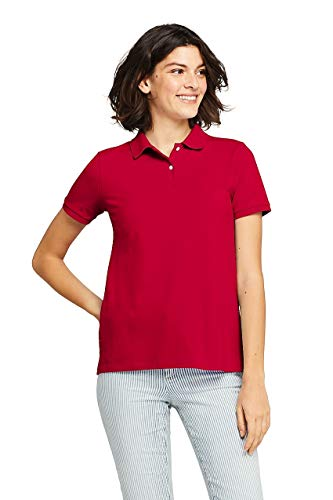Lands' End Women's Petite Mesh Cotton Short Sleeve Polo Shirt ()