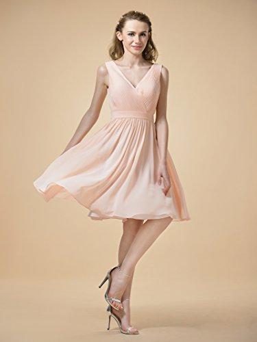 Neck Chiffon Red Alicepub Prom Party Bridesmaid Dresses Gown Dress Short V Evening qfgOwT