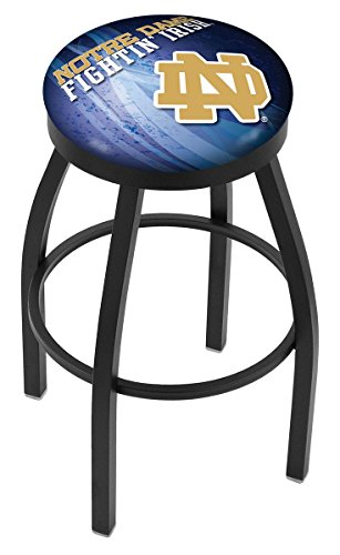 Chrome Seat Ring Bar Stool (Holland Bar Stool Officially Licensed L8B2B Notre Dame (ND) Swivel Bar Stool, 30