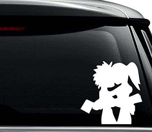 Hatchet Man Girl Love Decal Sticker For Use On Laptop, Helmet, Car, Truck, Motorcycle, Windows, Bumper, Wall, and Decor Size- [8 inch] / [20 cm] Tall / Color- Matte White