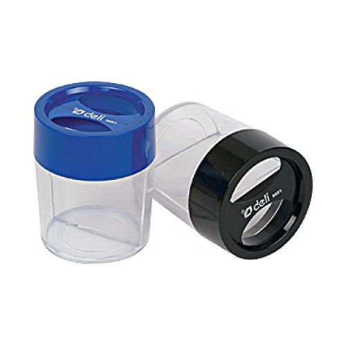 GlobalDeli- Magnetic Paper Clip Dispenser. Pack of 4 Desk Organizer Jumbo Clip Holder, Large Size. Assorted Clear Colors Black and Grey Paperclip Magnet Holder Accessories. by GlobalDeli