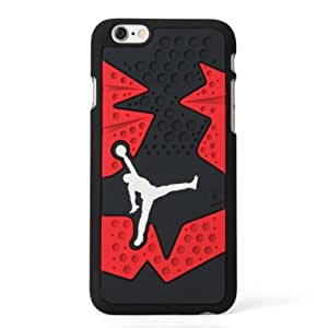 Michael Jordan vi Black/Red iphone 6 Silicone Skin Case Rubber Feels Looks like the Sneaker Sole Thin **SHIPS FROM USA**