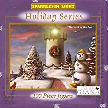 Alan Giana Sparkles in Light Holiday Series Warmth of the Sky 100 Piece Puzzle