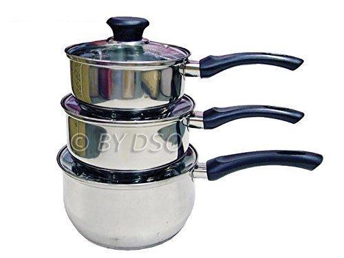 Prima 3 Piece Stainless Steel Cookware Set 14cm 16cm & 18cm 11135C