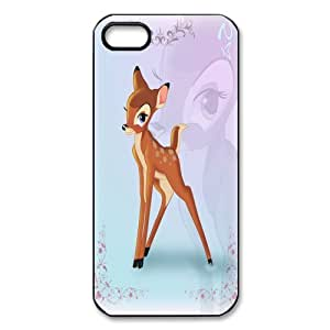 Customize Black White Cartoon Disney Bambi Back Case for iphone 5 5S JN5S-2205
