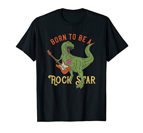 T-Rex Rock Star Shirt Guitar Rock Star Dinosaur T-shirt