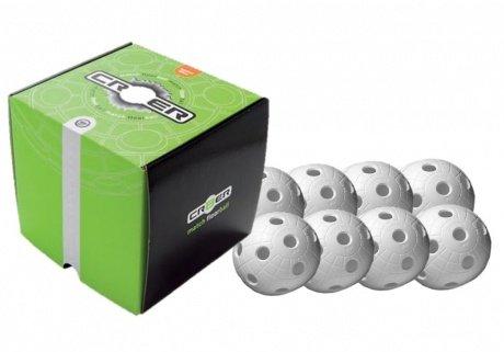 8x Floorball Ball, Unihockey Ball, 23g Unihoc Crater weiß 23g Unihoc Crater weiß