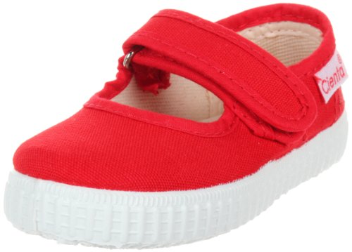 Cienta Mary Jane Sneakers for Girls – Red Casual Shoes with Adjustable Strap, 32 EU (1.5 M US Little Kid) - Mary Jane Canvas Sneakers