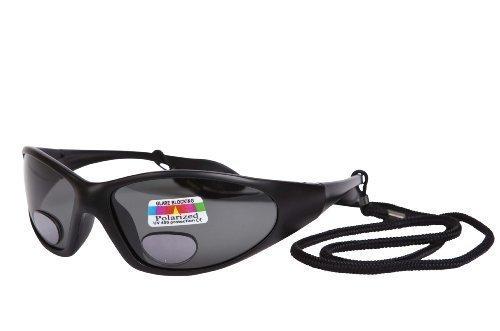 OPTICAID - Gafas de Sol Bifocales Polarizadas de Pesca en Ángulo UV400 - Color Gris,