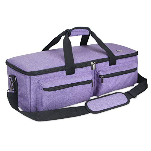Luxja Carrying Bag for Cricut Explore Air, Tote Bag for Cricut Explore Air and Supplies, Bag Only, Purple by LUXJA