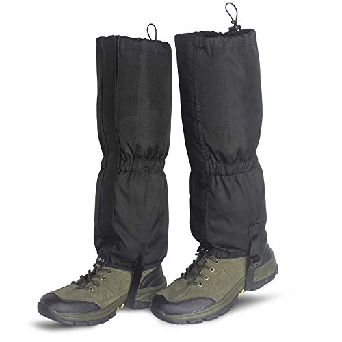 Unigear Leg Gaiters Waterproof Boot Gaiters with Zipper for Hiking Hunting Climbing Snowing for Men and Women (Black, S)