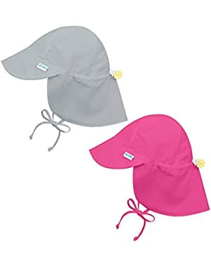 i play 2PK UPF 50+ Sun Protection Flap Sun Hats Baseball Brim Hat Beach Hat Grey