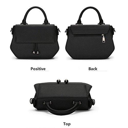 Bag Women's Bag Shoulder Black Leather Casual PU Trend Bag fqfwr0