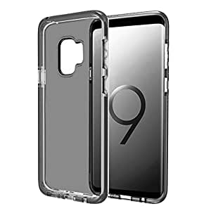 Galaxy S9 Thin Case with Flexible Anti-slip Transparent TPU and Corners Bumper Hybrid Structure (Dark Night)