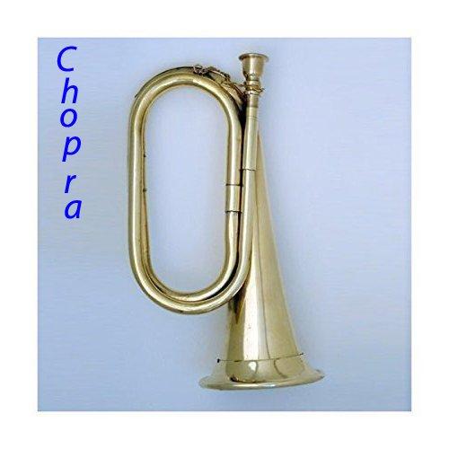 Civil War Era Solid Brass Bugle US Military Cavalry Horn (Chopra)