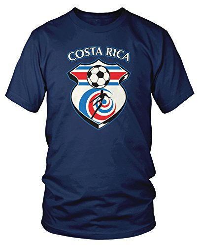 - Amdesco Men's Costa Rica Soccer, Costa Rican Football T-Shirt, Navy Blue XL