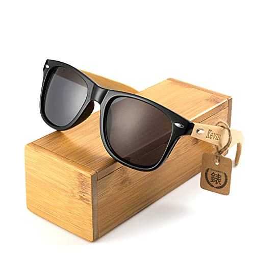 Awerise Personalized Wooden Sunglasses UV400 Groomsmen Gift (Sunglasses with wood box, -