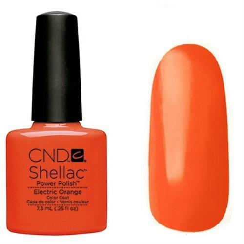 CND Shellac Nail Polish, Electric Orange