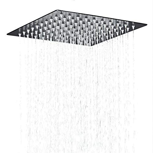 teel Bathroom Square Rainfall Shower Head 12 Inch,oil Rubbed Bronze ()