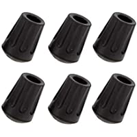 Park Ridge Outfitters Extra Hiking Pole Replacement Tips? - Pack of 6  - Fits All Standard Hiking, Trekking, Walking Poles