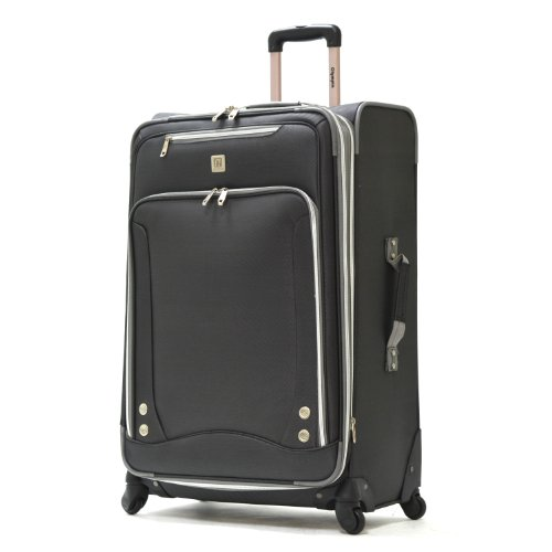 Suiter Expandable In 26 - Olympia Luggage Skyhawk 26 Inch Expandable Vertical Rolling Case,Black,One Size
