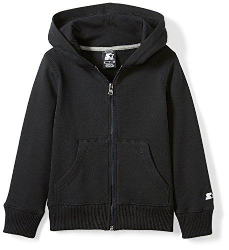 Starter Girls' Zip-Up Hoodie, Amazon Exclusive, Black, L (10/12) (Girls Sweatshirt Hoodie Fleece)