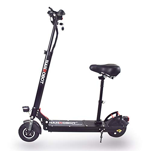 NANROBOT X4 Commuting Electric Scooter Foldable, 8' Explosion-Proof Solid Tire, 500W Motor, Max...