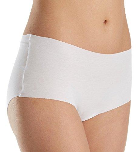 HANRO Women's Invisible Cotton Full Brief, White, Medium